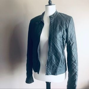 Attention Quilted Leather Jacket